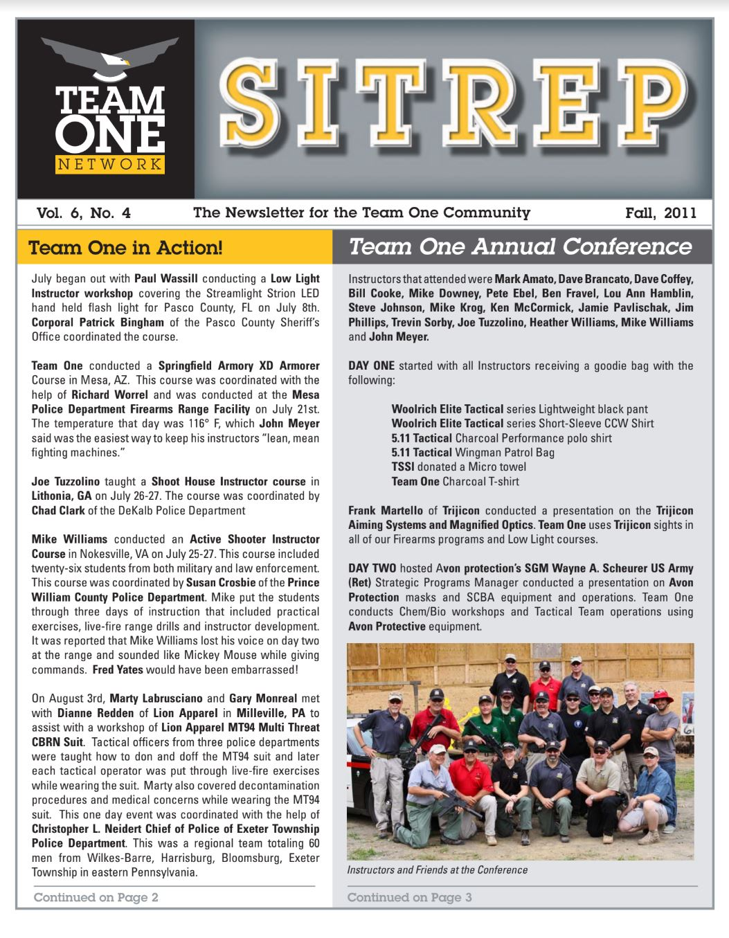 SITREP – Team One Network